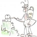 Formichina protegge le piante dagli insetti cattivi